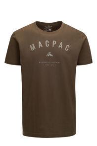 Macpac Men's Graphic Fairtrade Organic Cotton Tee, Olive Night, hi-res