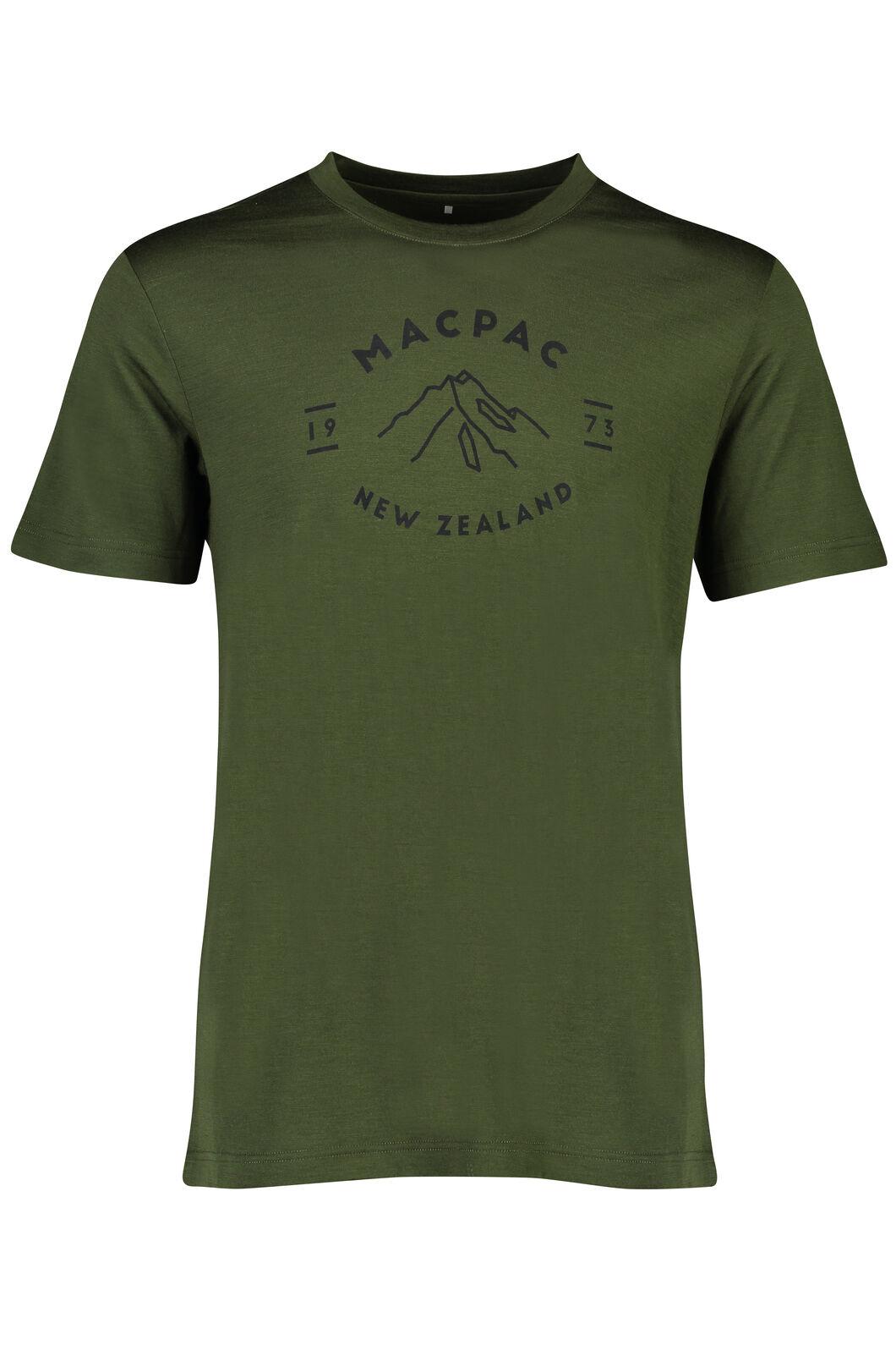 Macpac Mountain  Merino 180 Tee - Men's, Rifle Green, hi-res