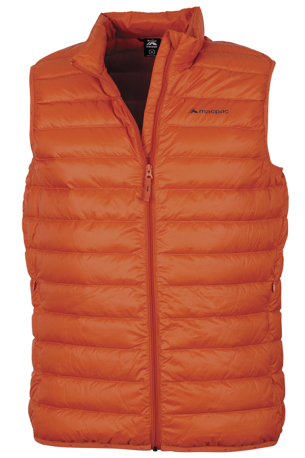Macpac Uber Light Down Vest - Men's, Sunset, hi-res