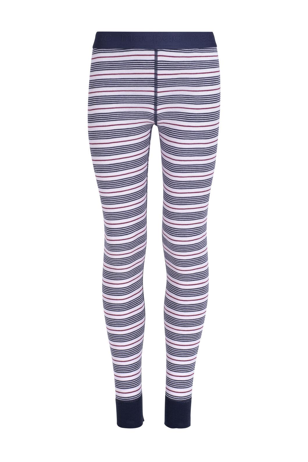 Macpac 220 Merino Long Johns — Kids', Cradle Pink Stripe, hi-res