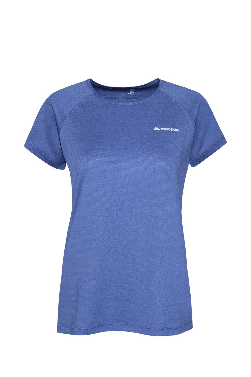 Macpac Eyre Short Sleeve Tee - Women's, Marlin, hi-res