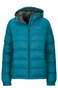 Women's Halo Hooded Down Jacket, Corsair, hi-res