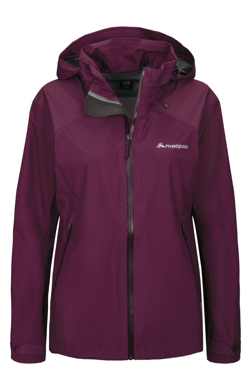 Macpac Women's Traverse Pertex® Rain Jacket, Amaranth, hi-res