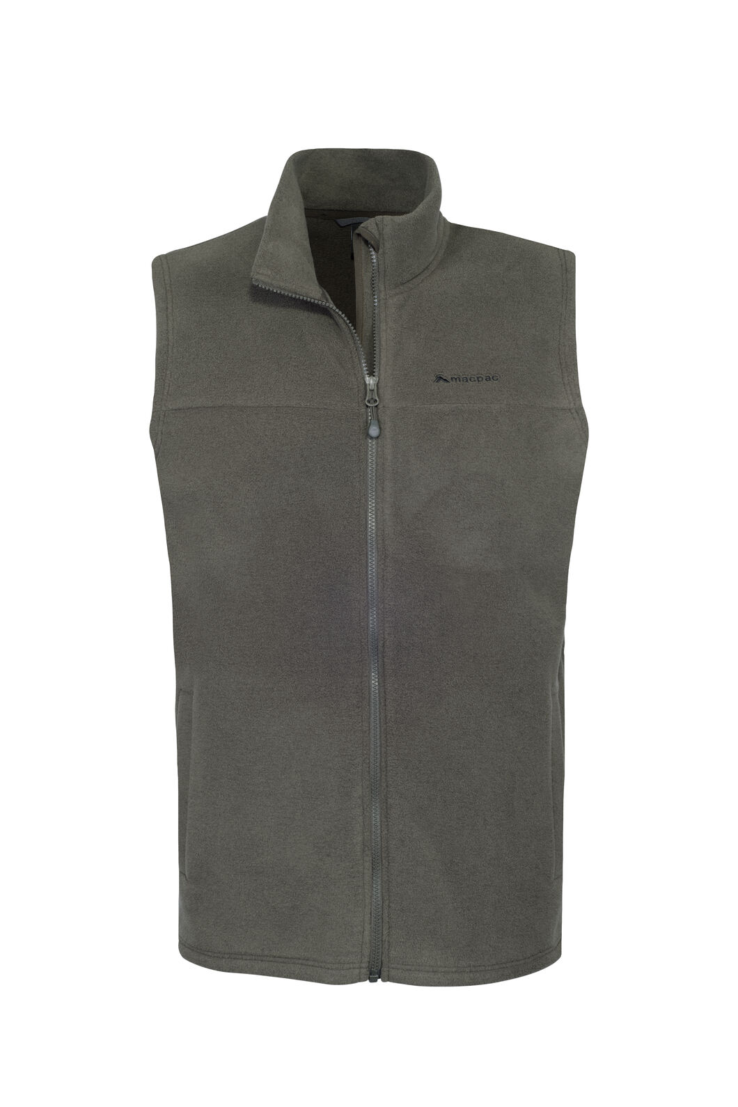 Macpac Waitomo Polartec® Fleece Vest — Men's, Black Olive, hi-res