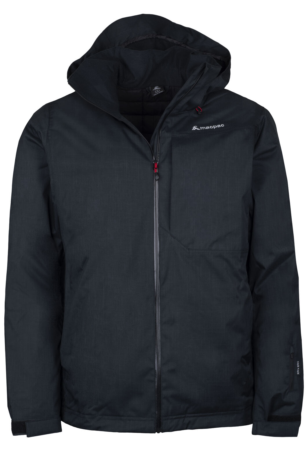 Powder Ski Jacket - Men's, Black/Black, hi-res