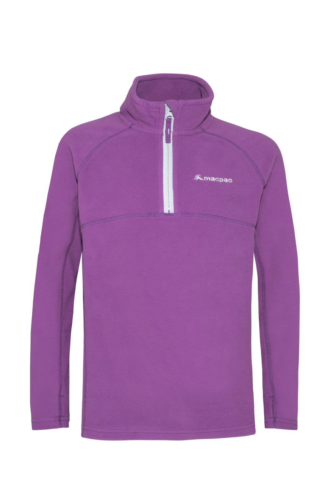Macpac Tui Polartec® Fleece Pullover — Kids', Wood Violet, hi-res