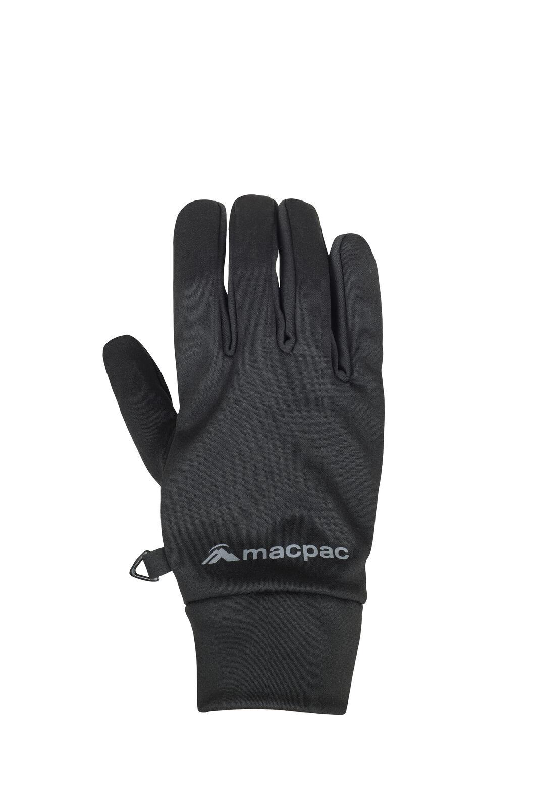 Macpac Stretch Gloves, Black, hi-res