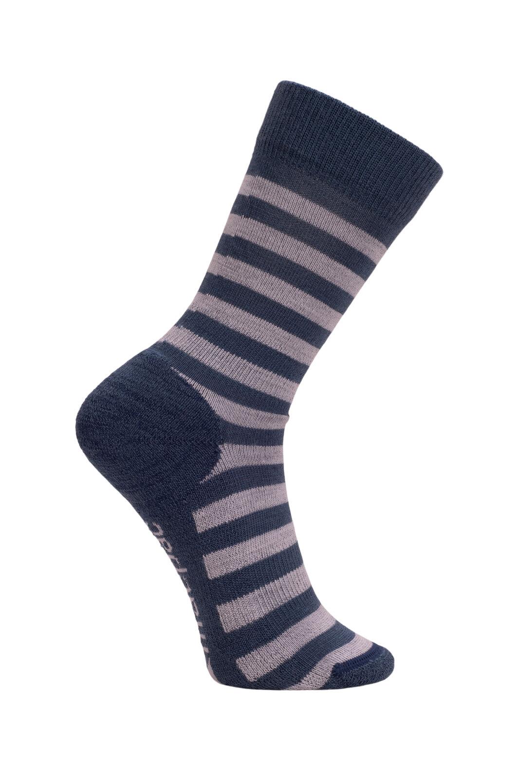 Macpac Kids' Footprint Sock, Ensign/High Rise Stripe, hi-res