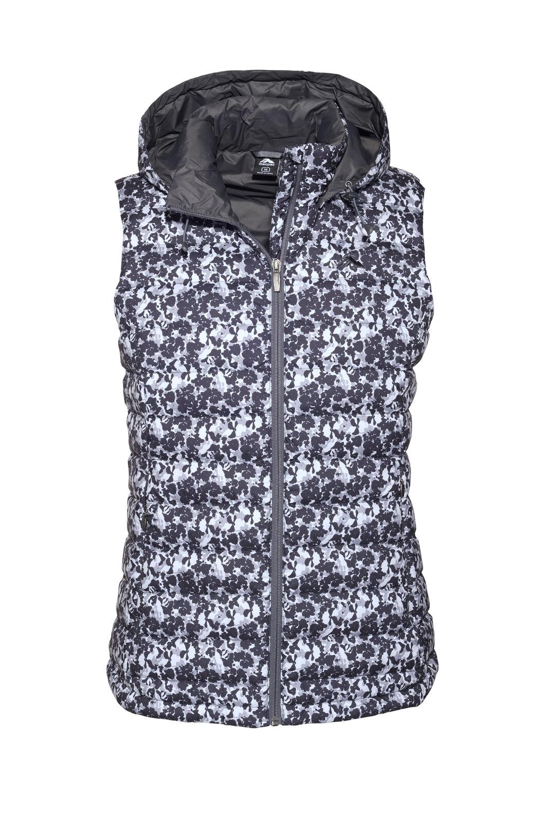 Macpac Women's Zodiac Hooded Down Vest, Black/High RIse, hi-res