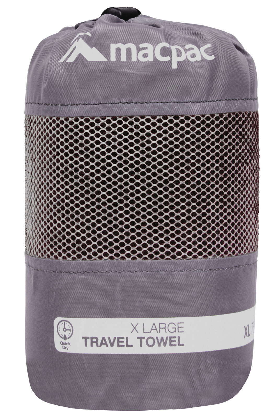 Macpac Travel Towel XL, Black, hi-res