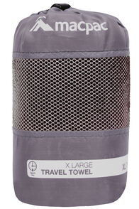 Travel Towel XL, Black, hi-res