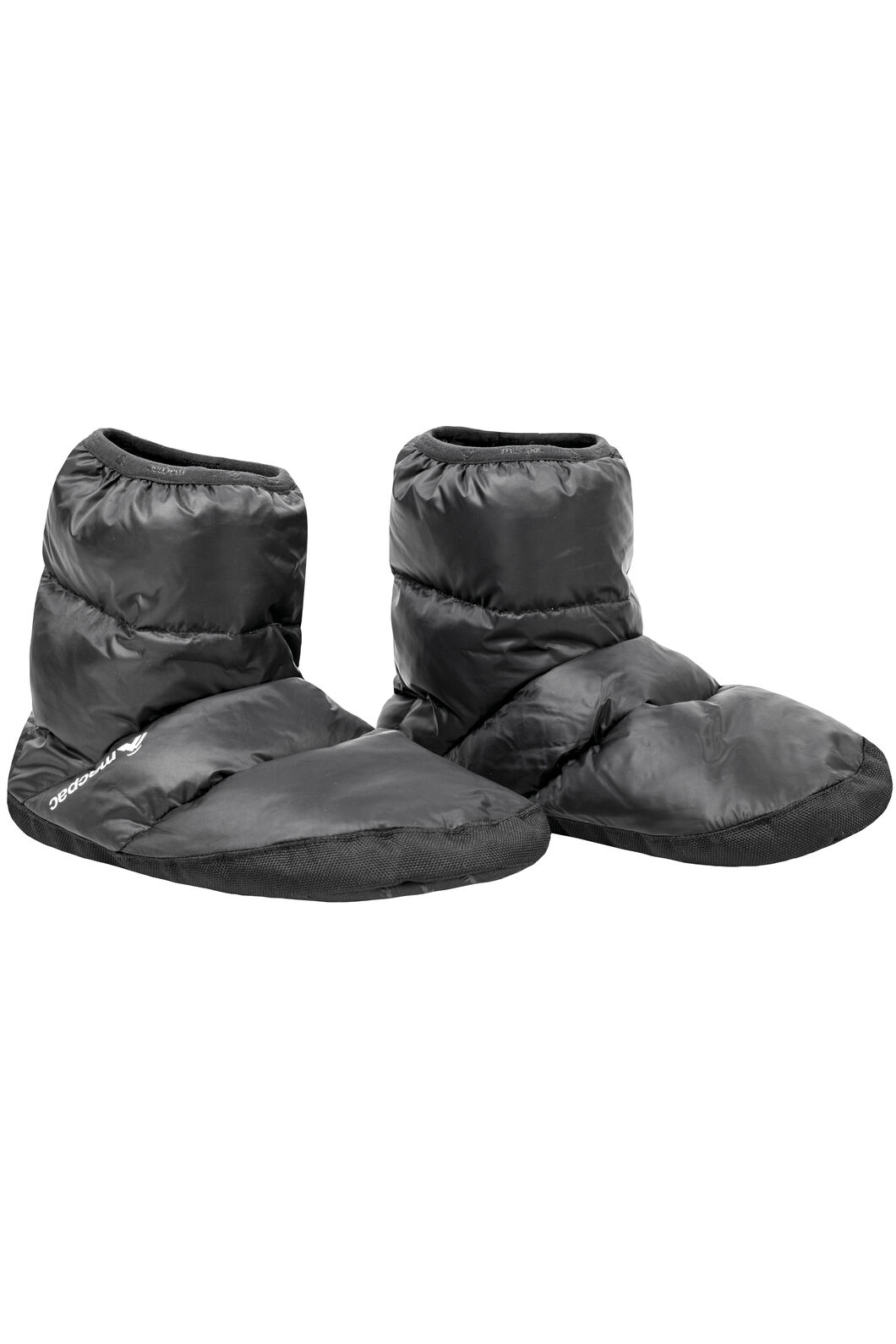 Macpac Down Booties, Black, hi-res