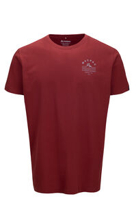 Macpac Alps Fairtrade Organic Cotton Tee — Men's, Russet Brown, hi-res