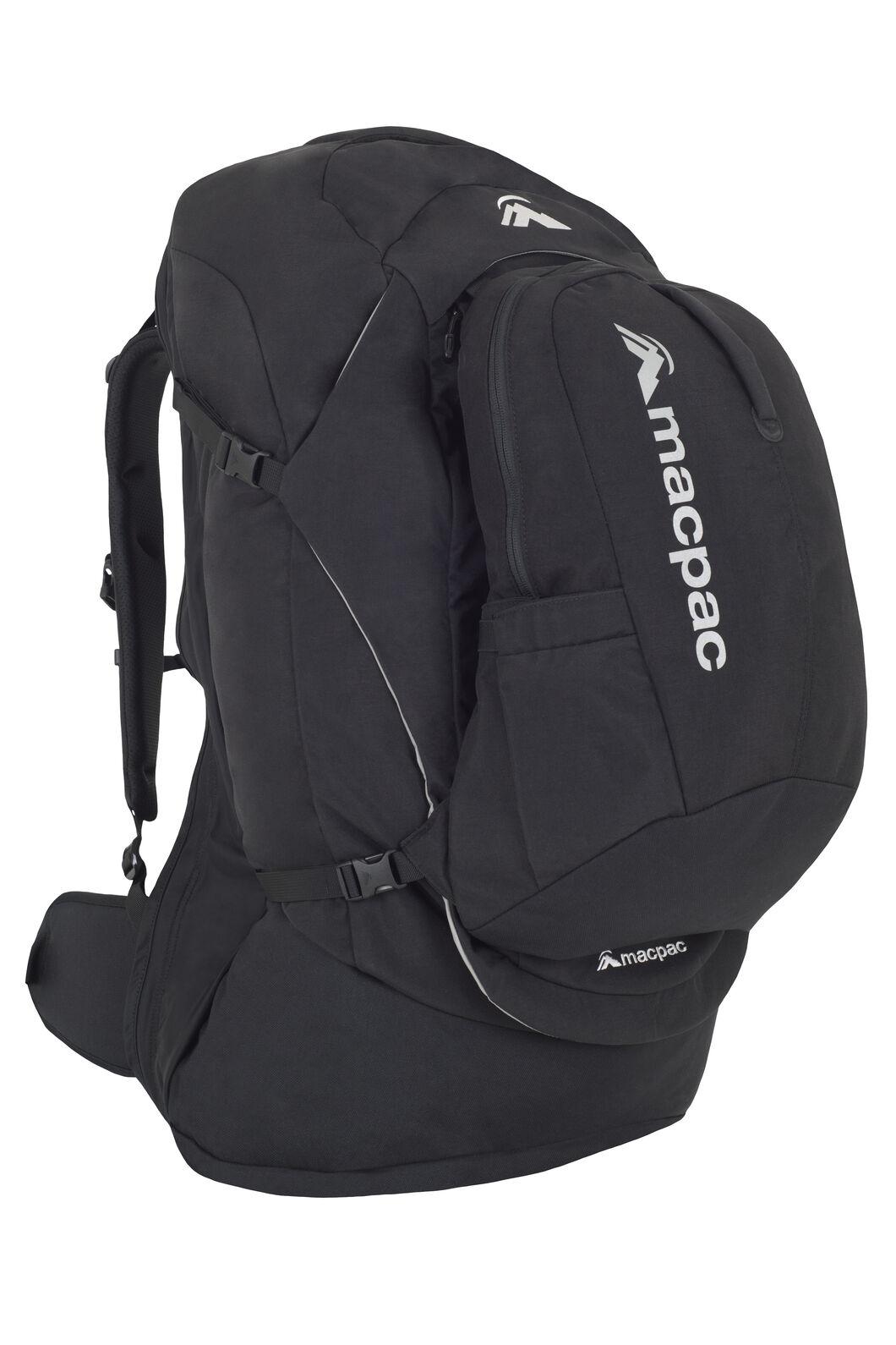 Macpac Pegasus 70L Travel Backpack, Black/Black, hi-res