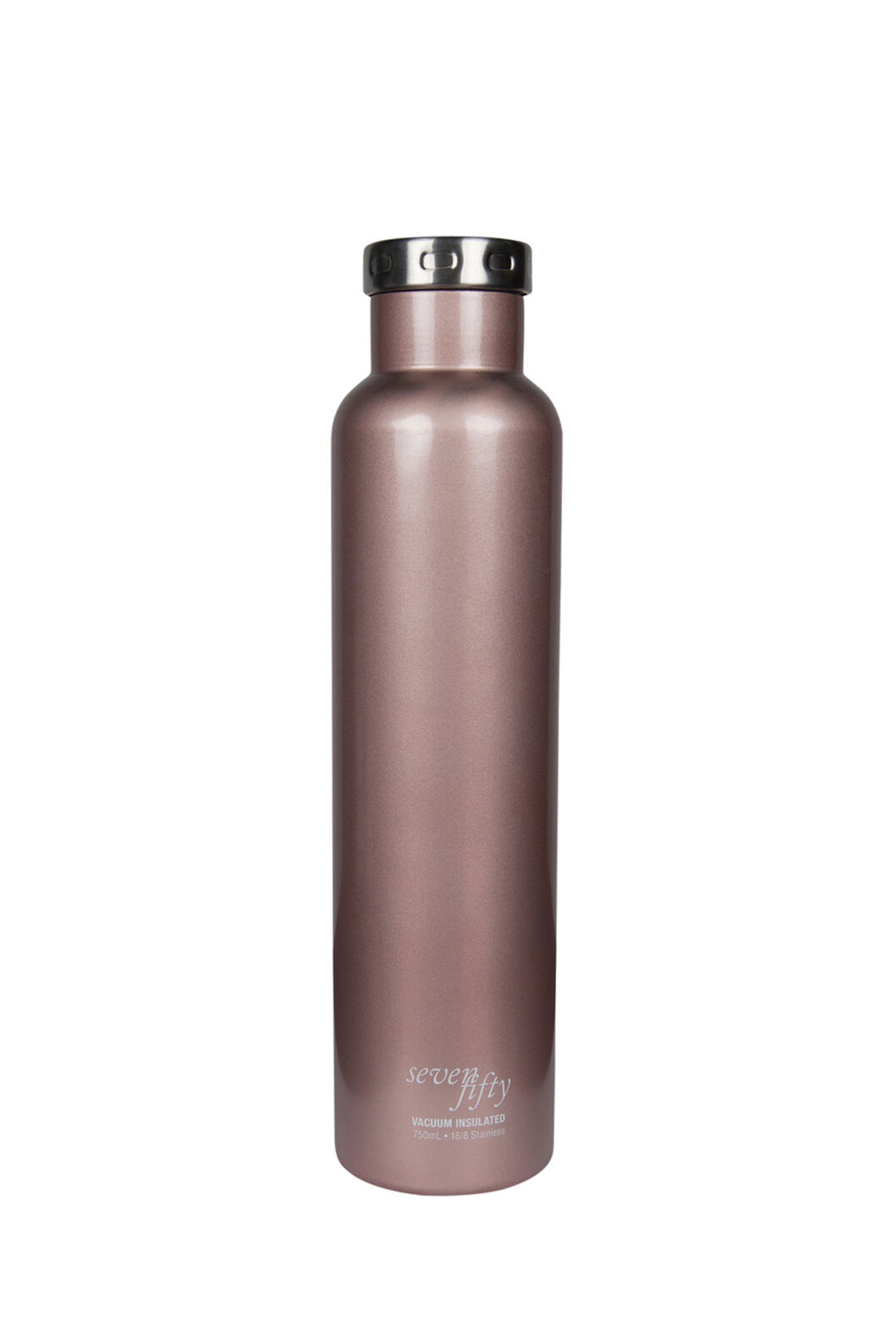 FIFTY/FIFTY® Seven/Fifty Wine Growler — 25 oz./750 ml, Rose Gold, hi-res