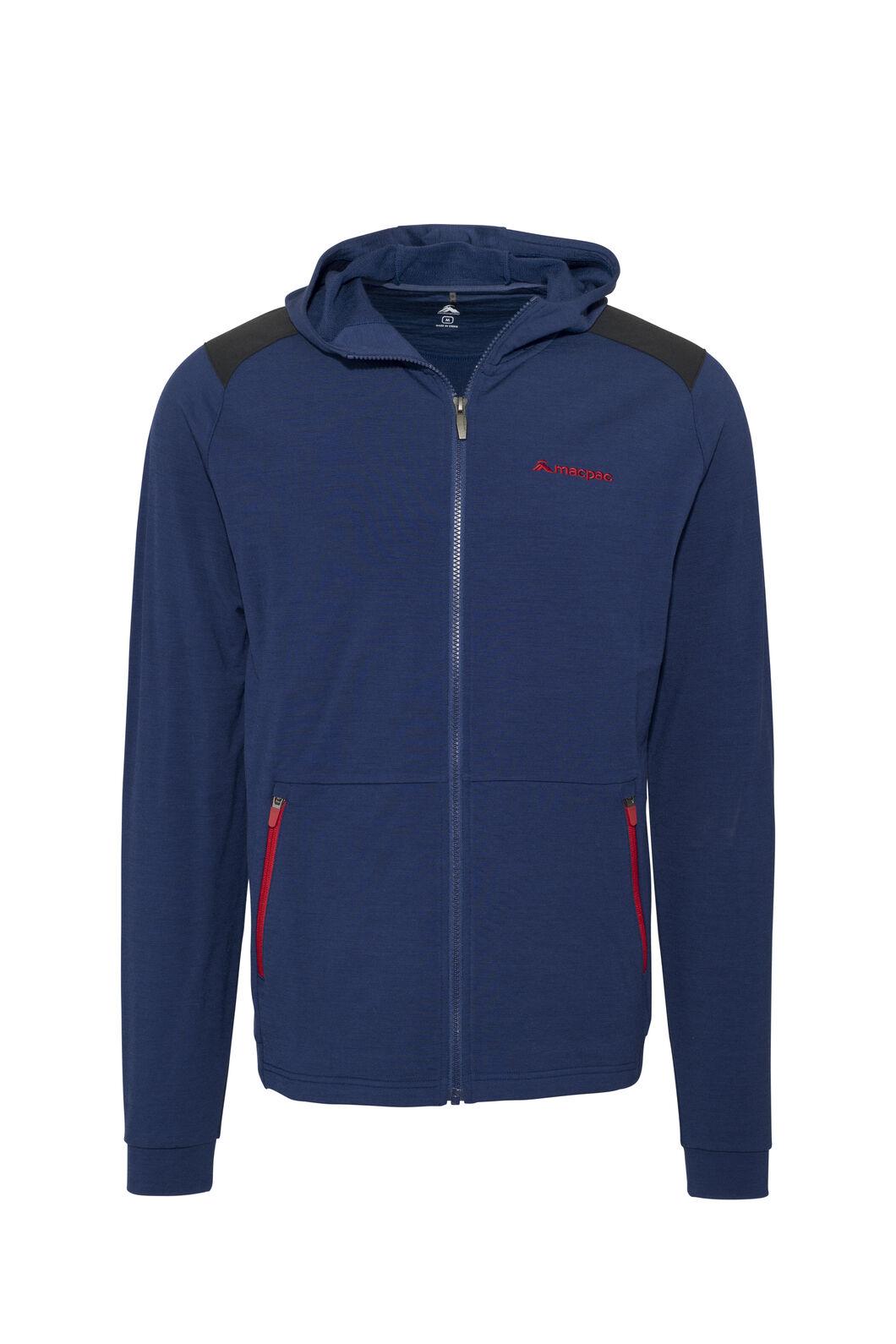 Macpac Men's Strata 280 Merino Hooded Jacket, Blueprint, hi-res