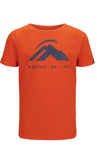 Macpac Mountain Fairtrade Organic Cotton Tee — Kids', Pureed Pumpkin, hi-res