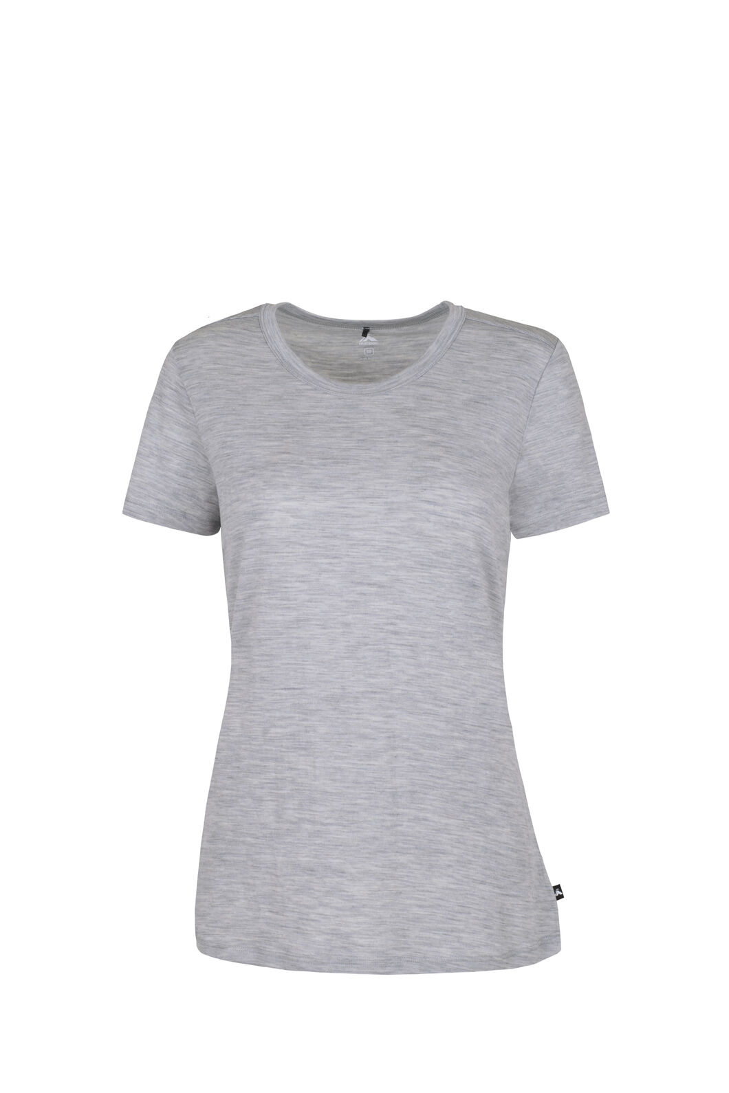 Macpac Lyellette 180 Merino Short Sleeve Crew - Women's, Grey Marle, hi-res