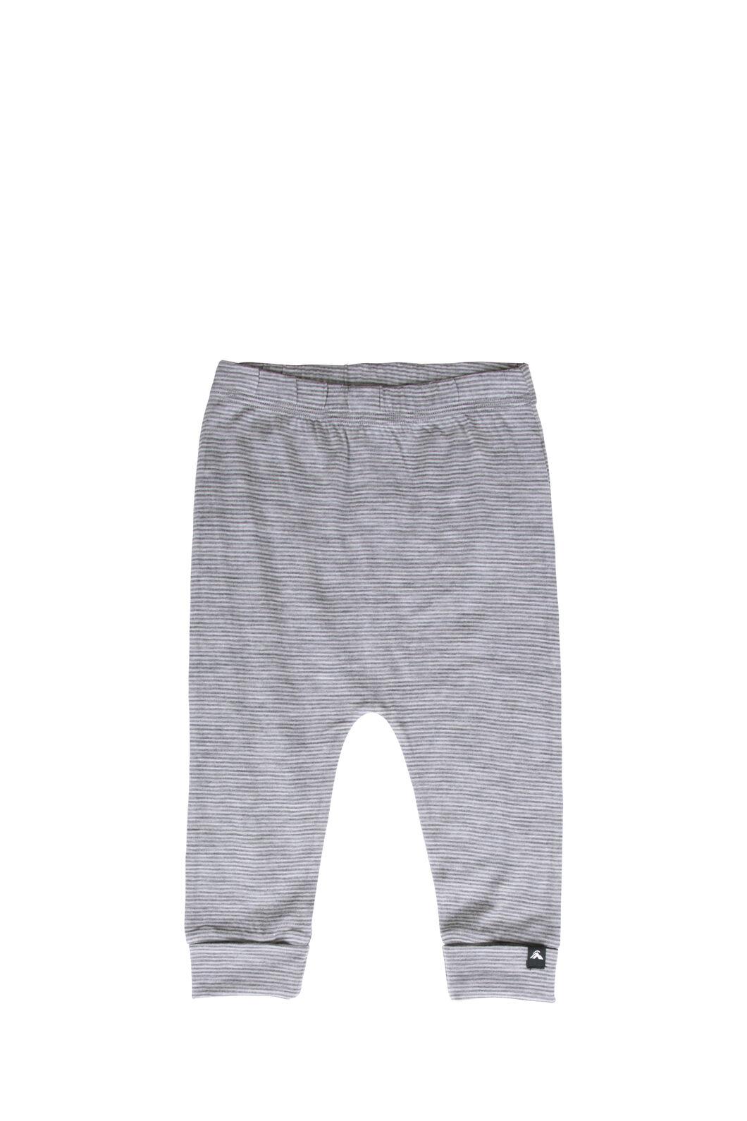 Macpac 150 Merino Long Johns - Baby, Light Grey Stripe, hi-res