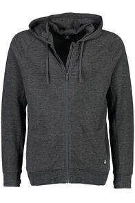 No Borders Merino Hoody - Men's, Charcoal Marle, hi-res