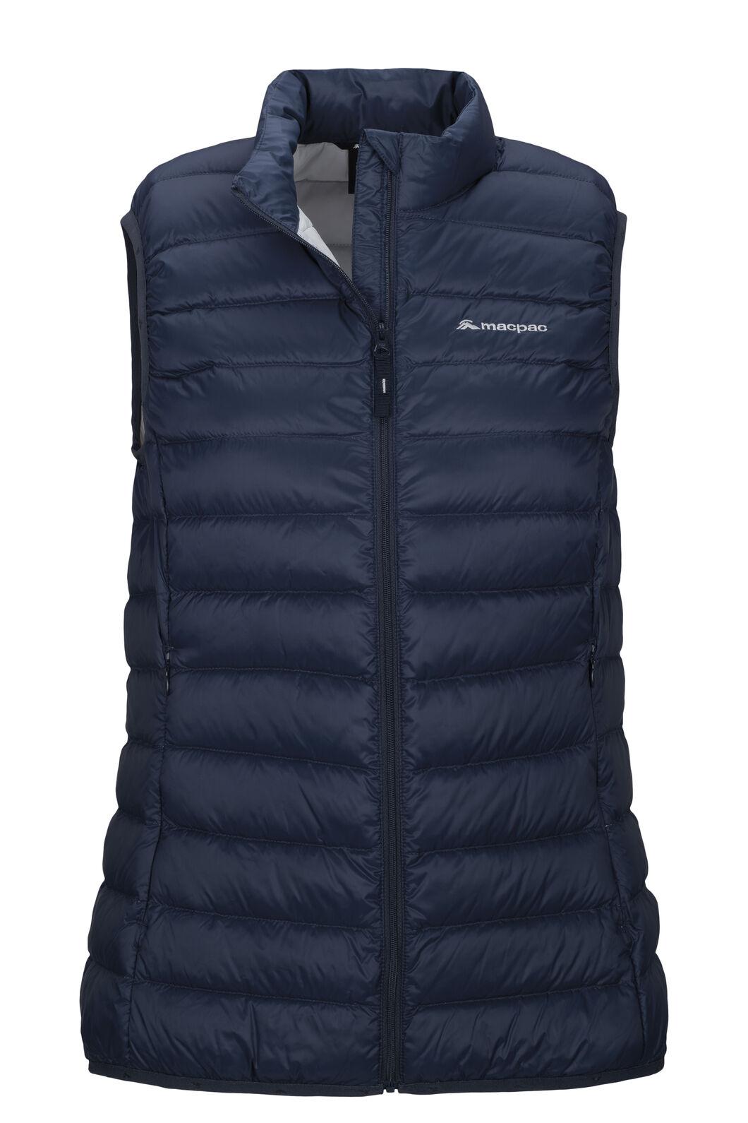 Macpac Uber Light Down Vest — Women's, Black Iris/Glacier Grey, hi-res
