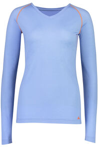 Macpac 150 Merino V-Neck Top — Women's, Vista Blue, hi-res