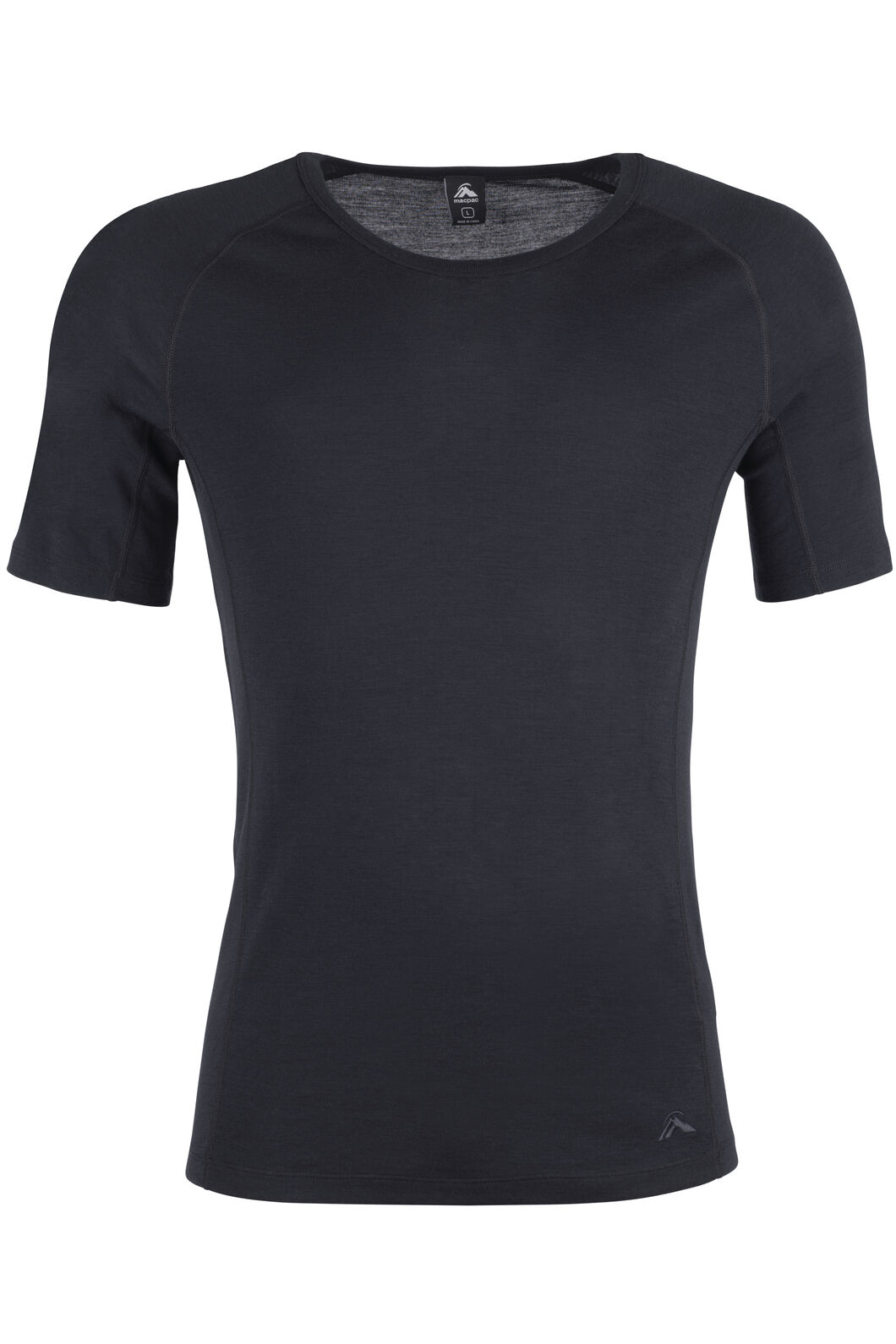 Macpac 220 Merino Short Sleeve Top - Men's, Black, hi-res