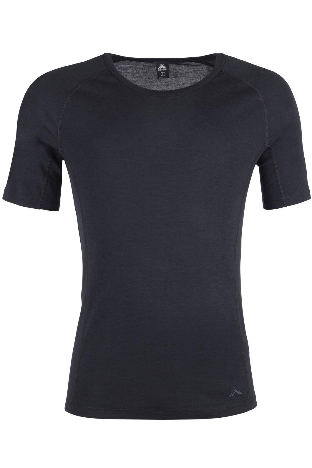 220 Merino Short Sleeve Top - Men's, Black, hi-res