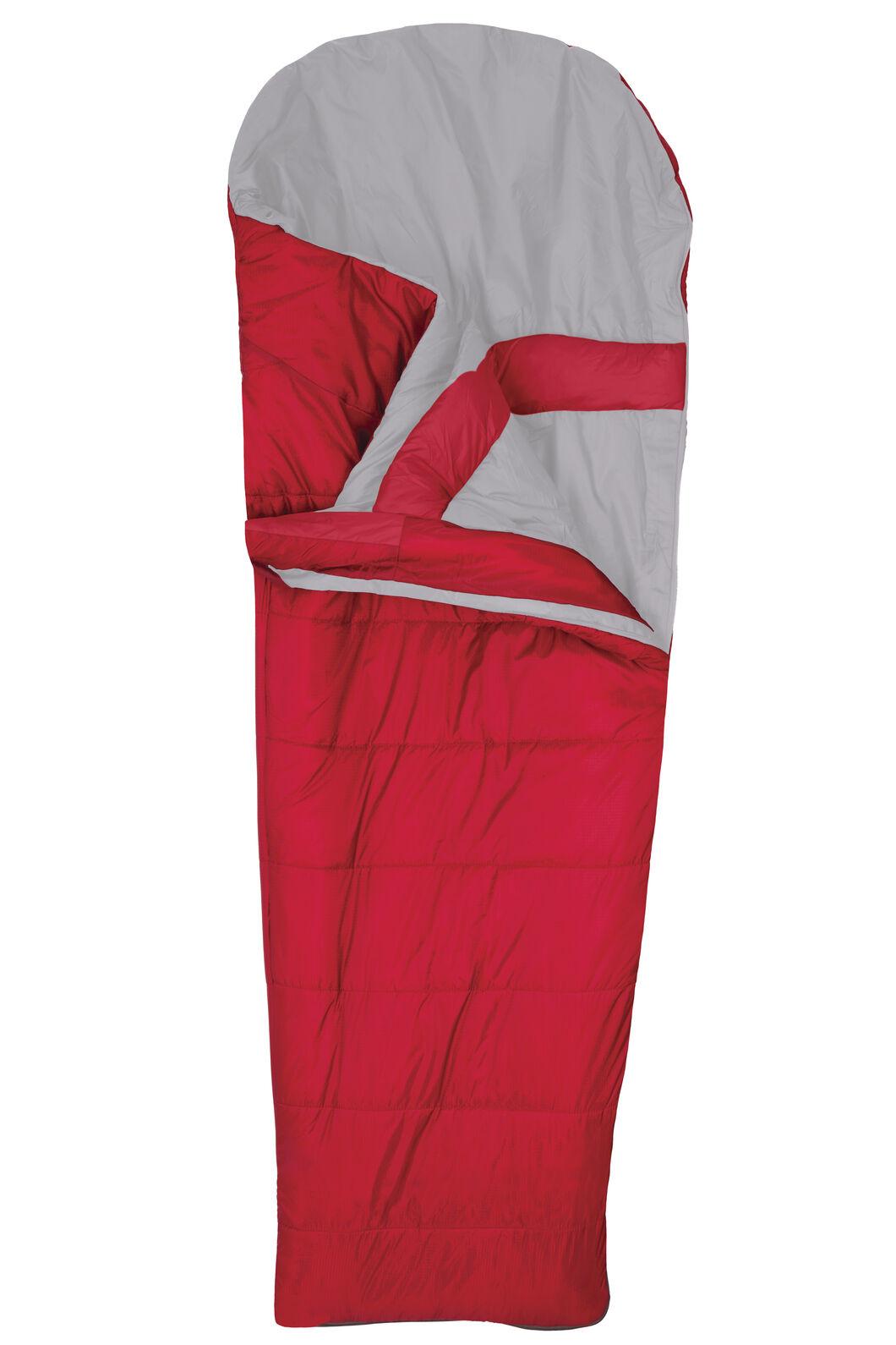 Roam Synthetic 350 Sleeping Bag - Standard, Crimson, hi-res