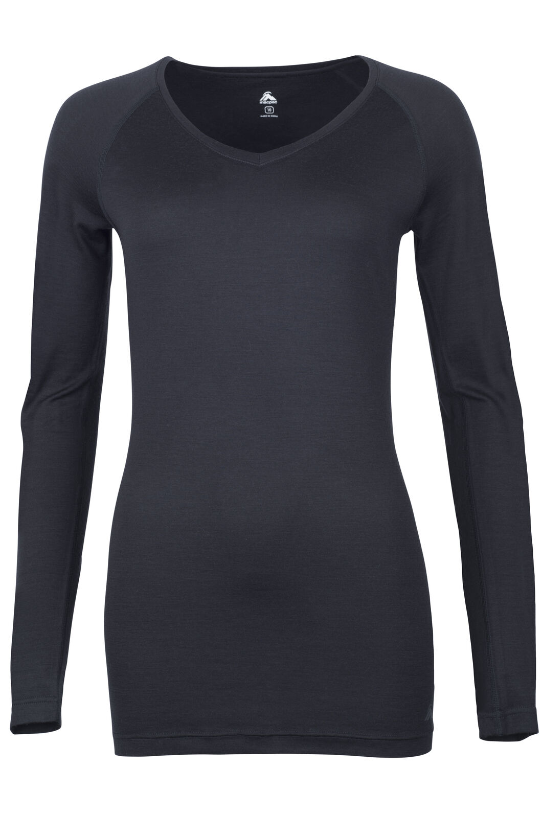 150 Merino V-Neck Top - Women's, Black, hi-res