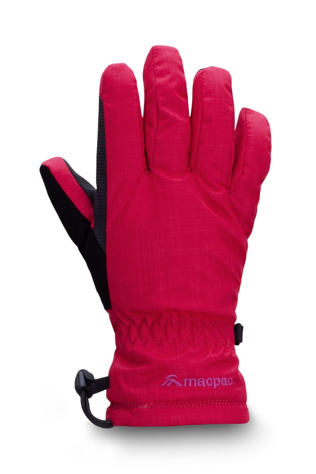Macpac Kids' Spree Reflex™ Ski Gloves, Jazzy/Wild Orchid, hi-res