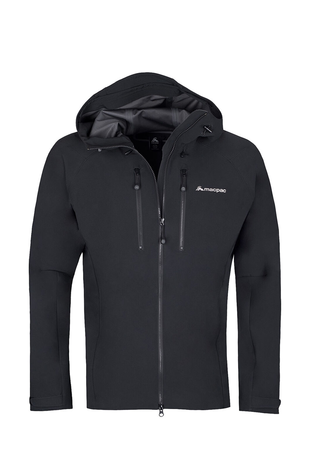 Macpac Fitzroy Alpine Series Softshell Jacket — Men's, Black, hi-res
