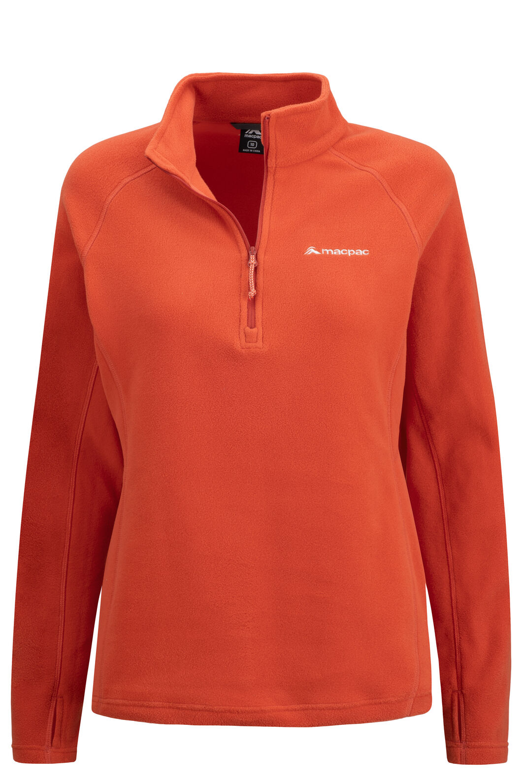 Macpac Tui Polartec® Micro Fleece® Pullover — Women's, Habanero, hi-res