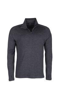 Macpac Kauri 280 Merino Pullover — Men's, Charcoal Marle, hi-res