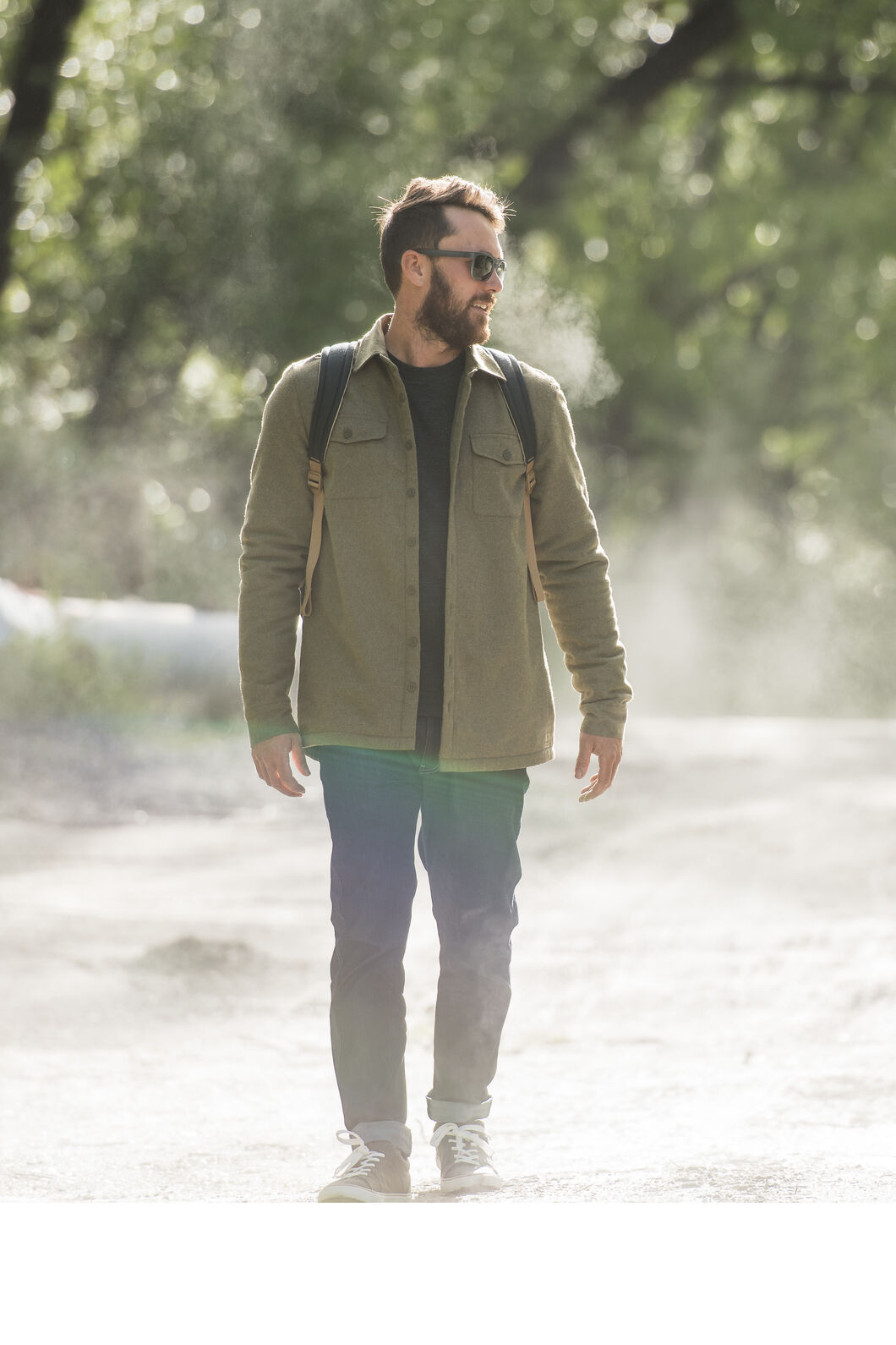 Macpac Lyndon Fleece Lined Shirt — Men's, Military Olive, hi-res