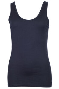 150 Merino Singlet - Women's, Black, hi-res