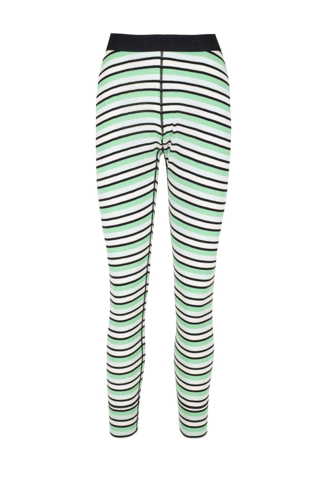 Macpac Women's 220 Merino Long Johns, Misty Jade/Katydid Stripe, hi-res
