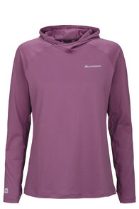 Macpac Eyre Long Sleeve Hooded Top — Women's, Amaranth, hi-res