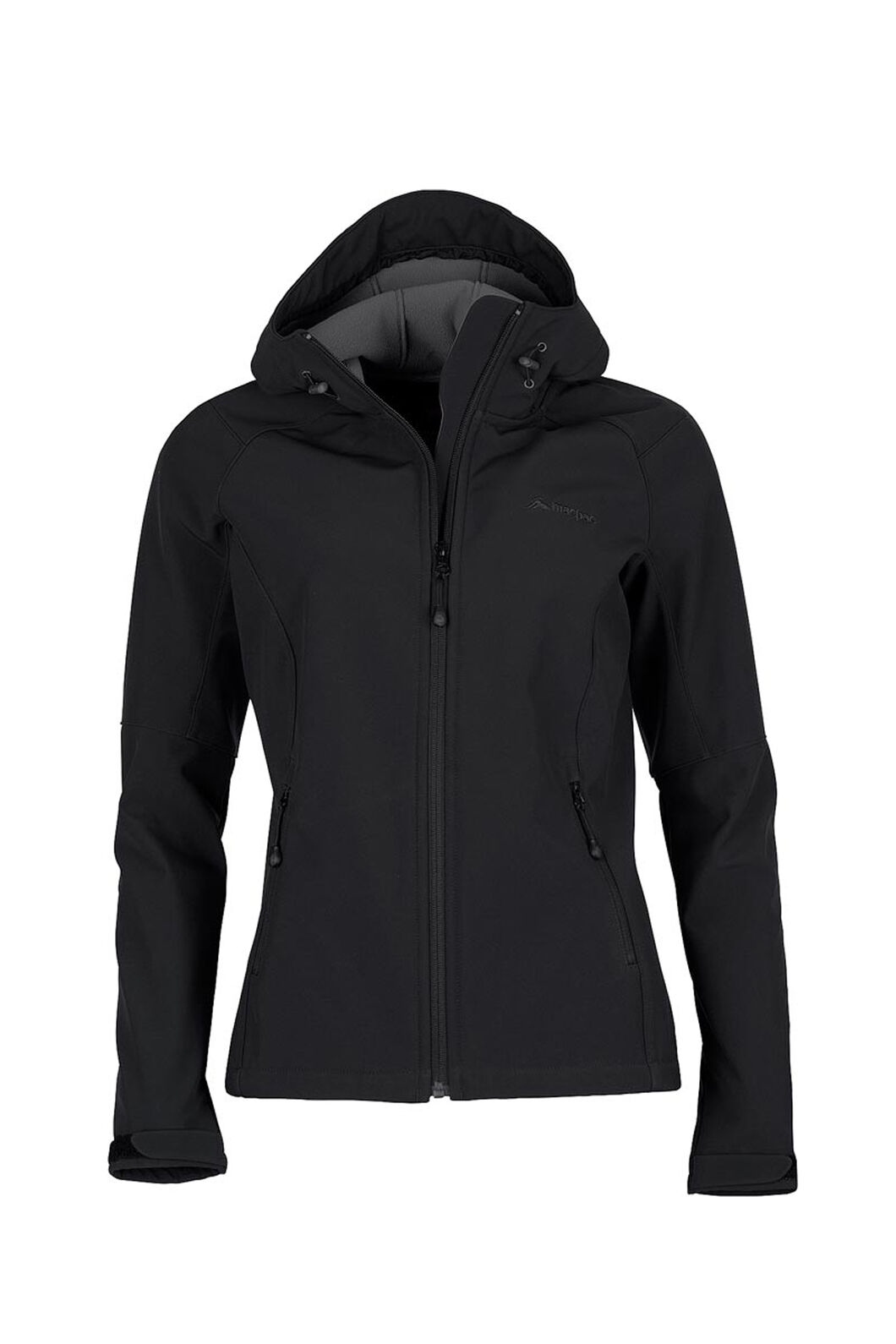 Macpac Sabre Hooded Softshell Jacket - Women's, Black, hi-res