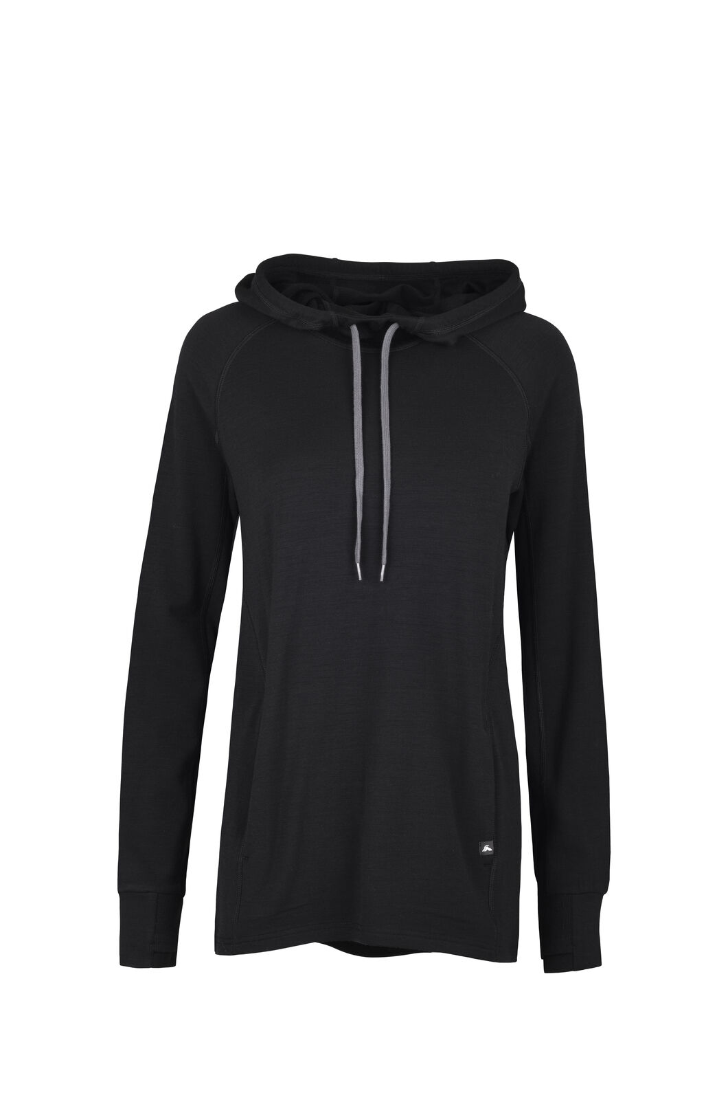 Macpac Lucille Merino Hooded Pullover — Women's, Black, hi-res
