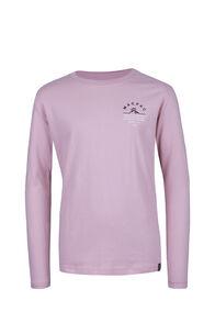 Macpac Alps Fairtrade Organic Cotton Long Sleeve Tee — Kids', Silver Pink, hi-res