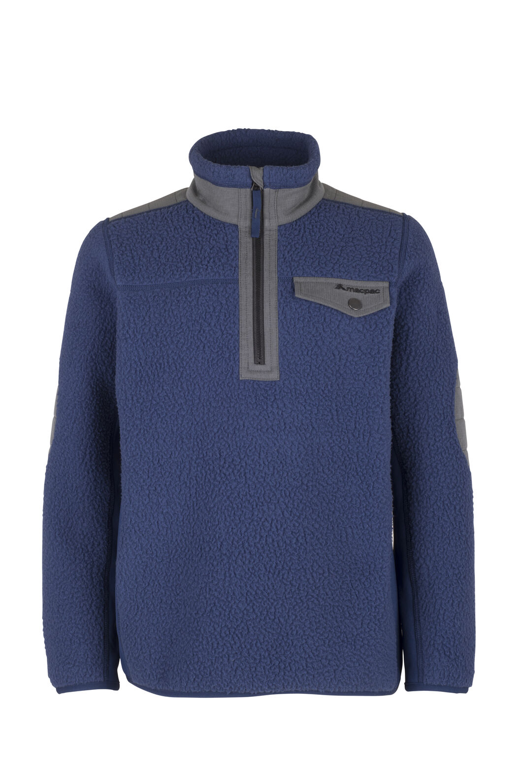 Macpac Campfire Fleece Pullover - Kids', Medieval Blue, hi-res