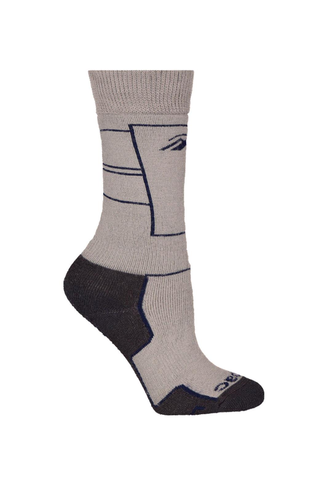 Macpac Ski Socks Kids', Black Iris/Alloy, hi-res