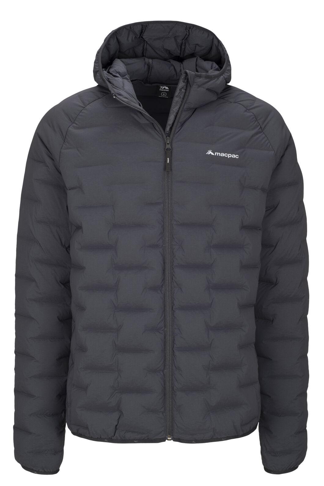 Macpac Ascend Hooded Down Jacket — Men's, Black, hi-res