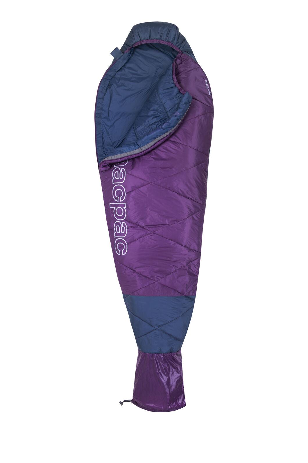 Macpac Aspire 270 Sleeping Bag — Kids', Blue Wing Teal/Wineberry, hi-res
