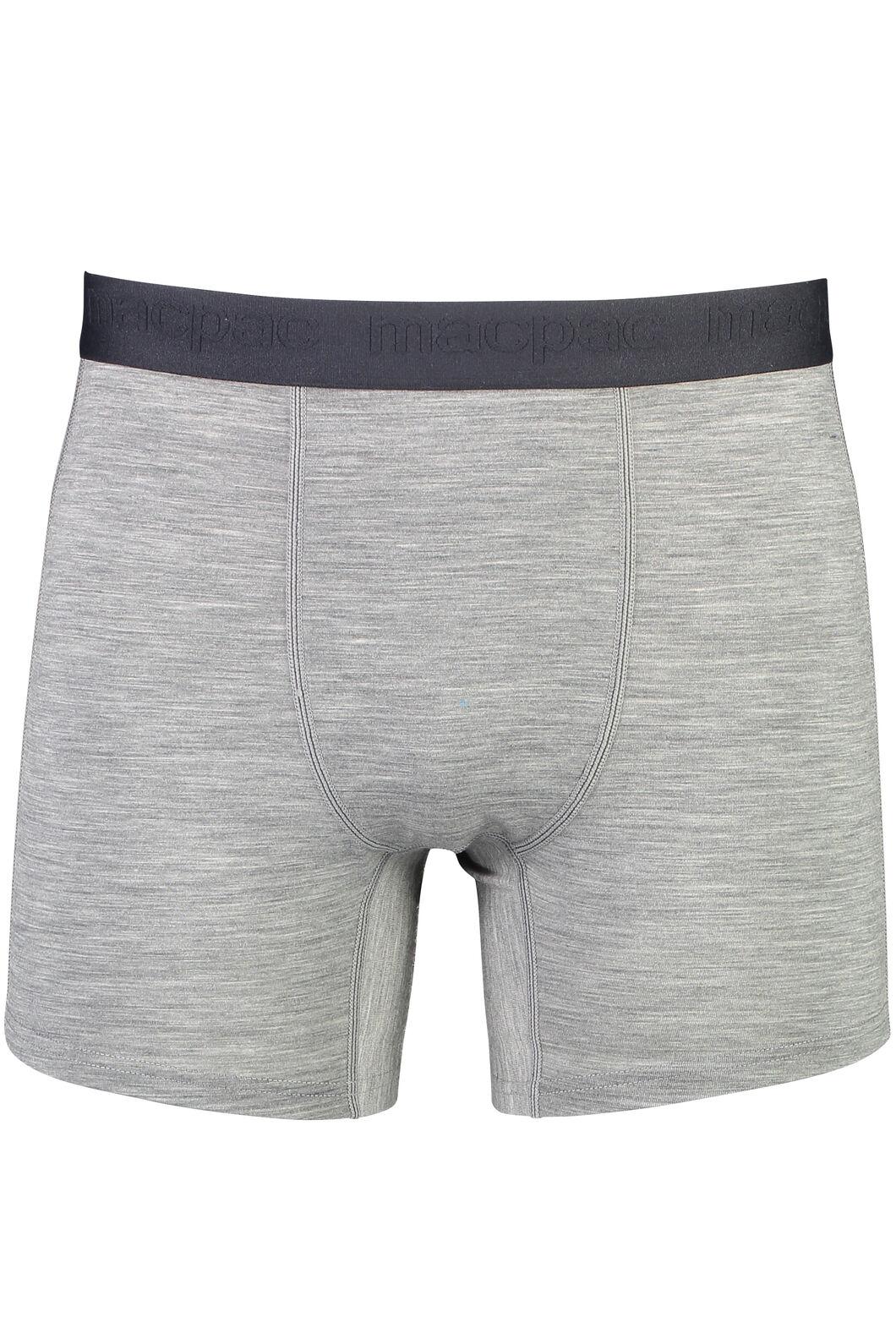 180 Merino Boxers - Men's, Grey Marle/Black, hi-res