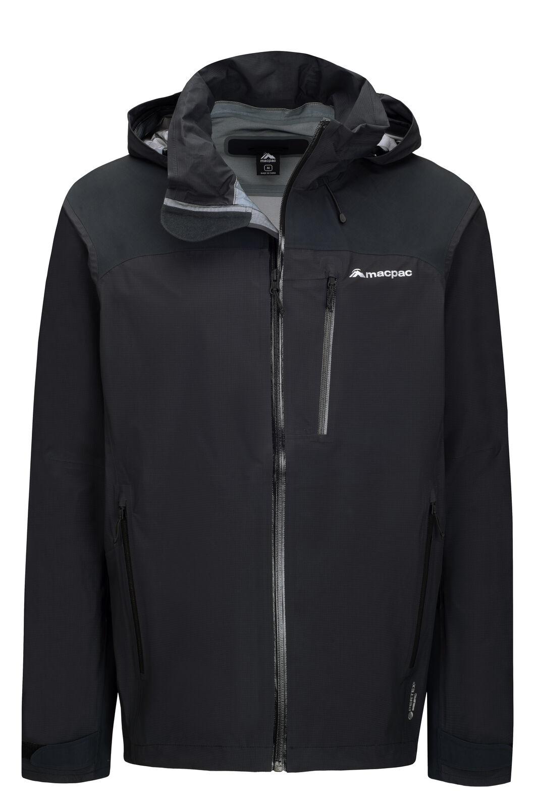 Macpac Men's Traverse Pertex® Rain Jacket, Black, hi-res