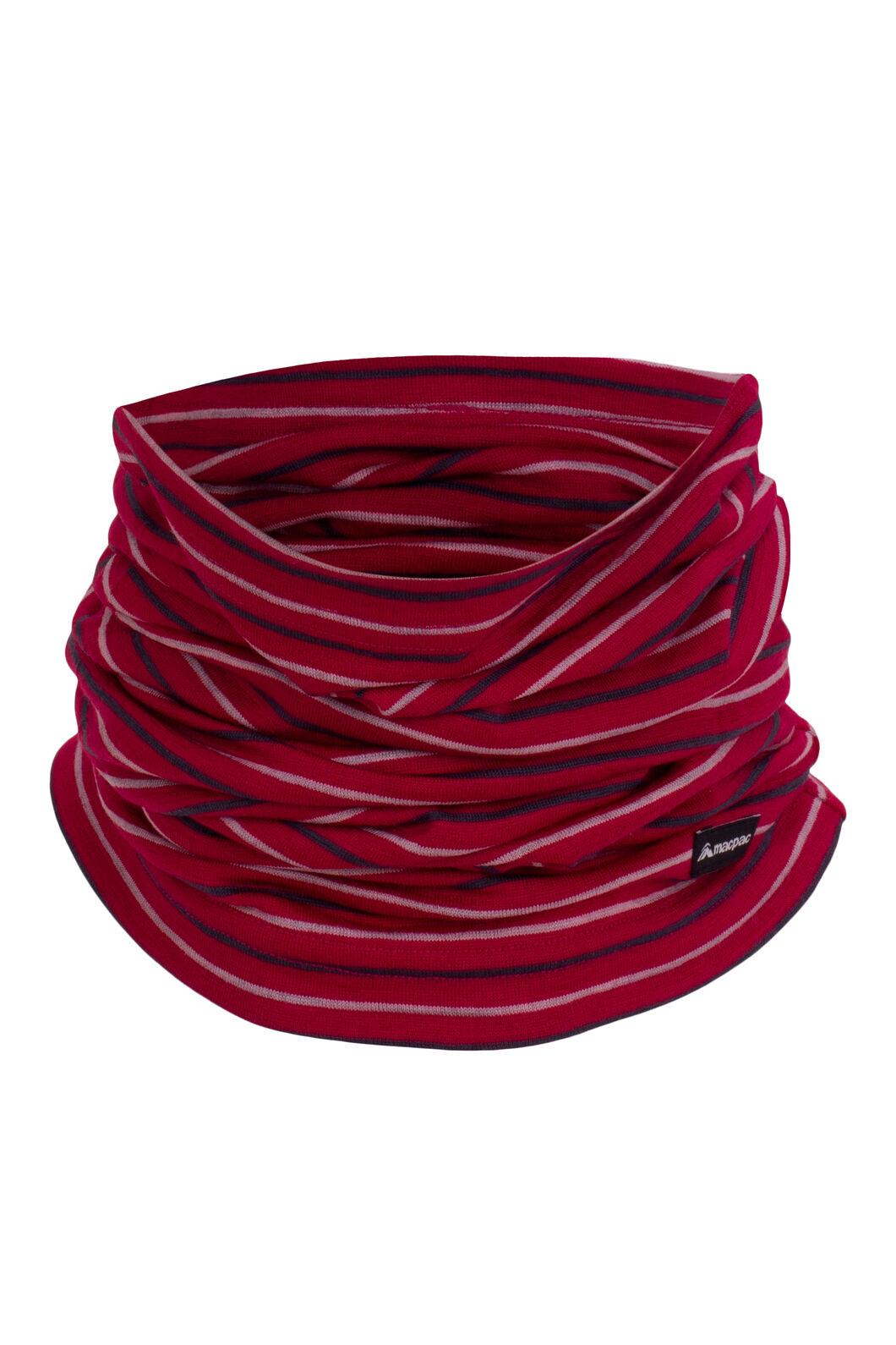 Macpac Merino 150 Neck Gaiter, Persian Red Stripe, hi-res