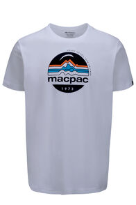Macpac Retro Fairtrade Organic Cotton Tee — Men's, White, hi-res