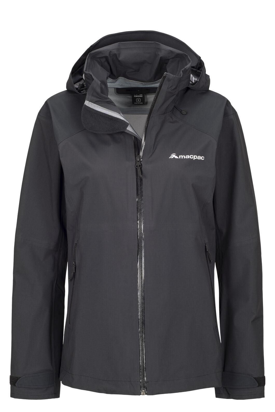 Macpac Women's Traverse Pertex® Rain Jacket, Black, hi-res